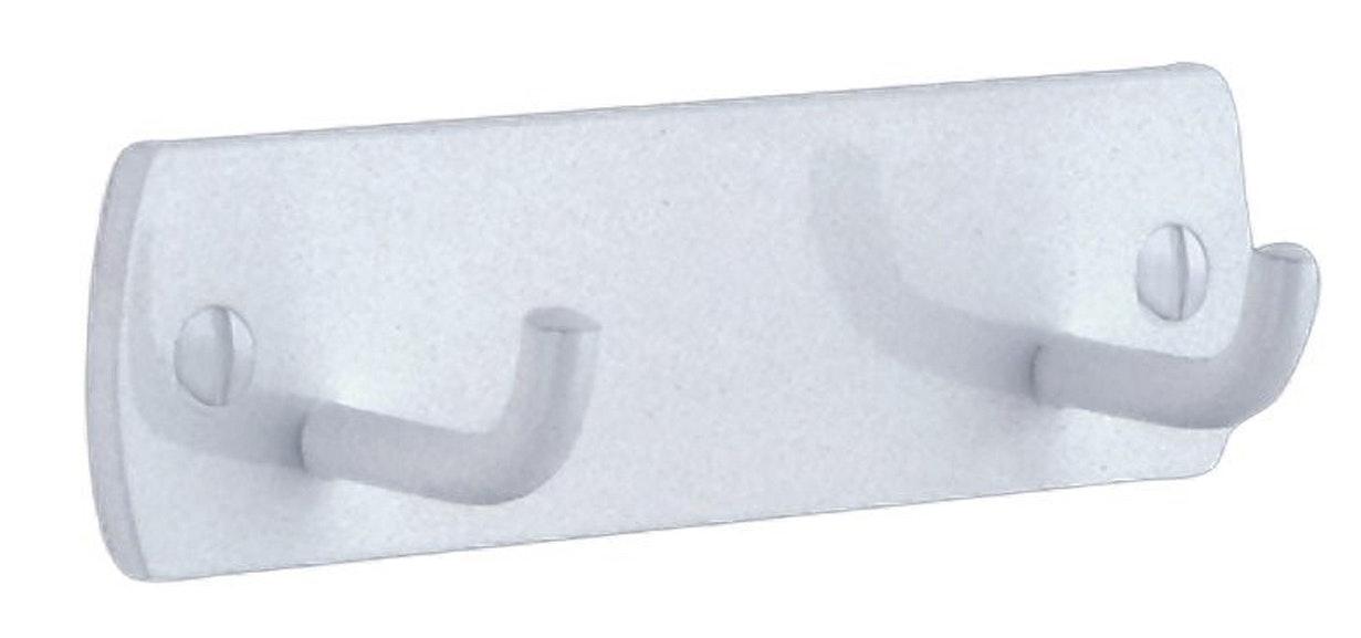 Handdukskrok Beslagsboden B456X med 2 krokar vit