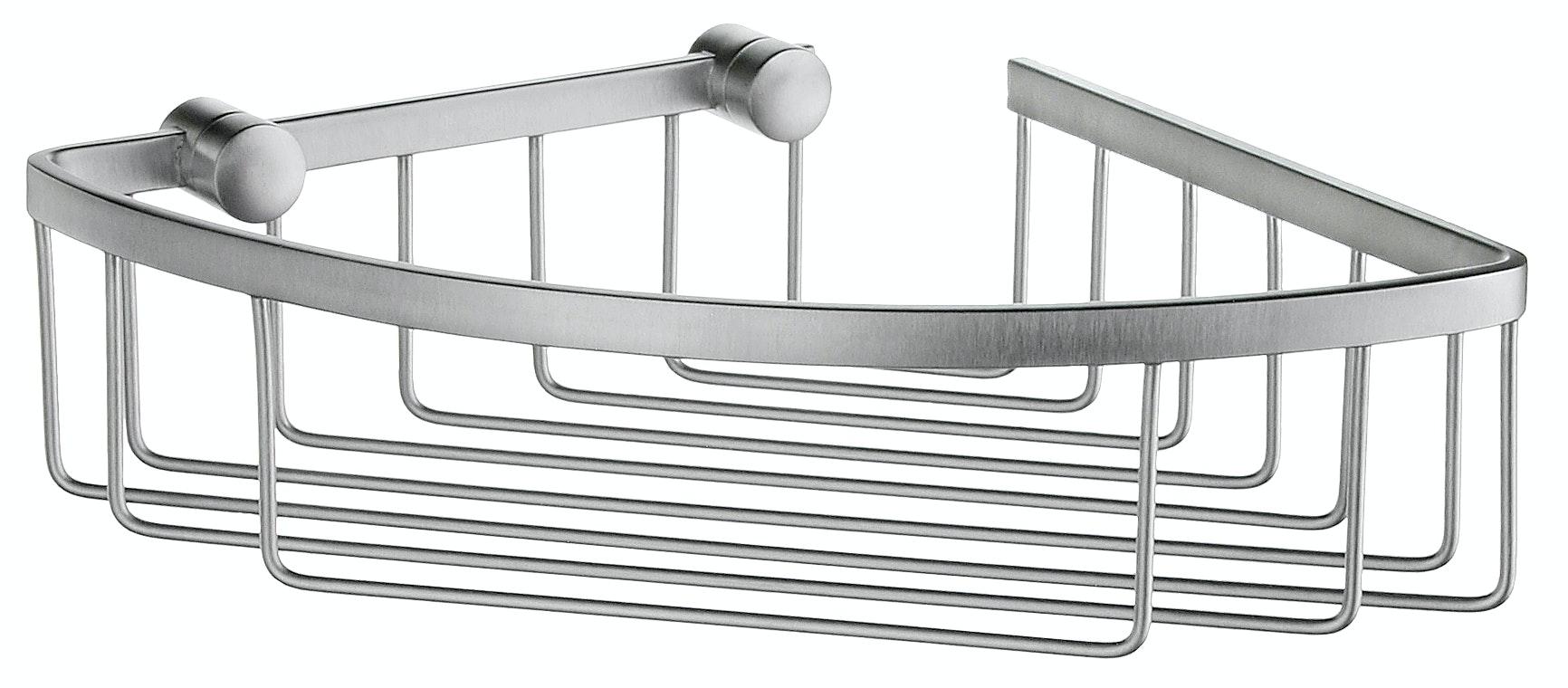 Hörnhylla dusch Smedbo Sideline DS2021 1 plan 160X160mm H60 mattborstad krom mattborstad krom