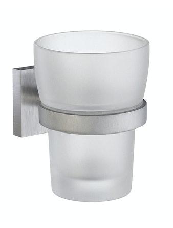 Tandborstglas Smedbo House RS343 frostat glas hållare i krom