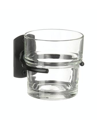Tandborstglas Beslagsboden B443B hållare svart