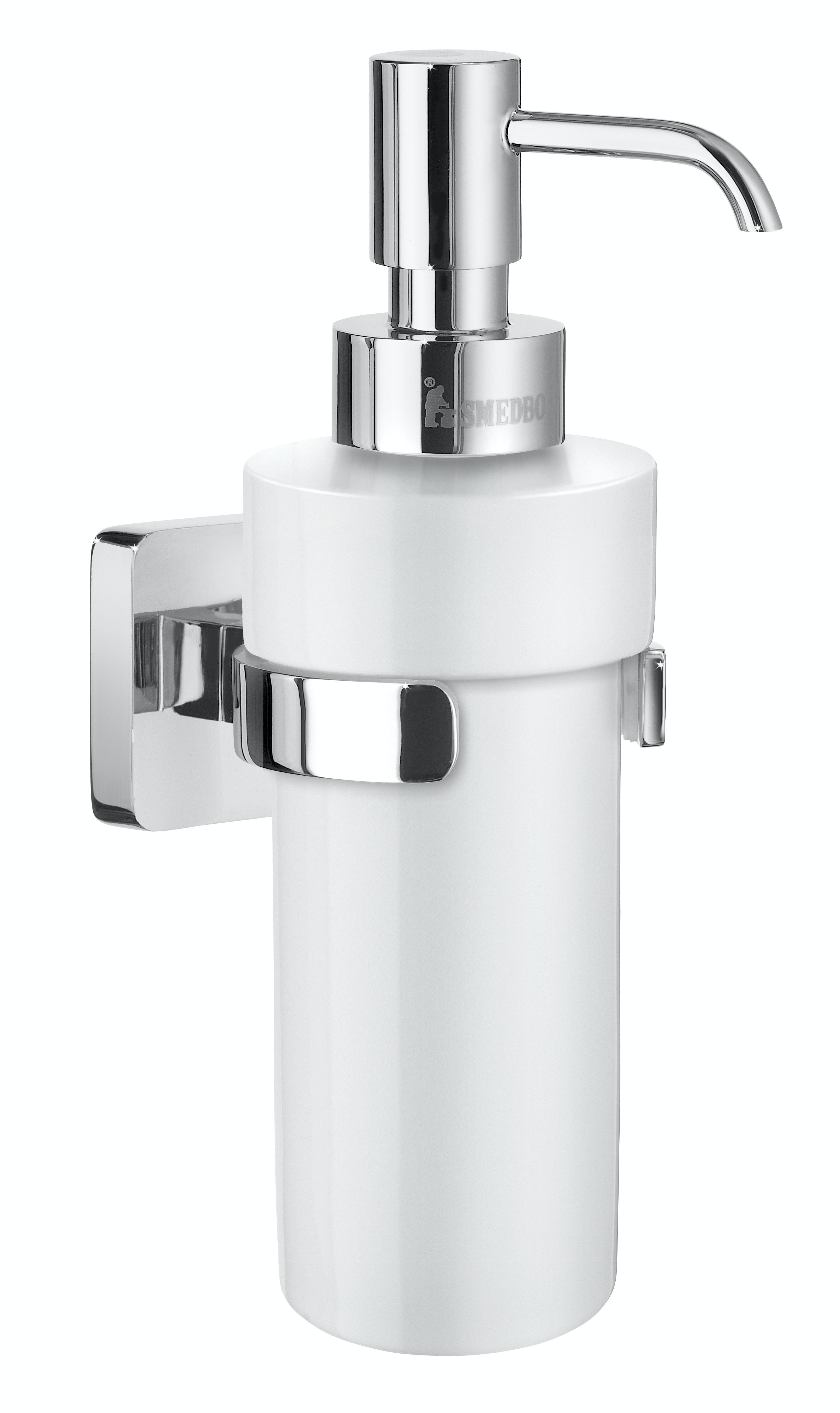 Tvålpump Smedbo Ice Porslin Väggmontage Krom