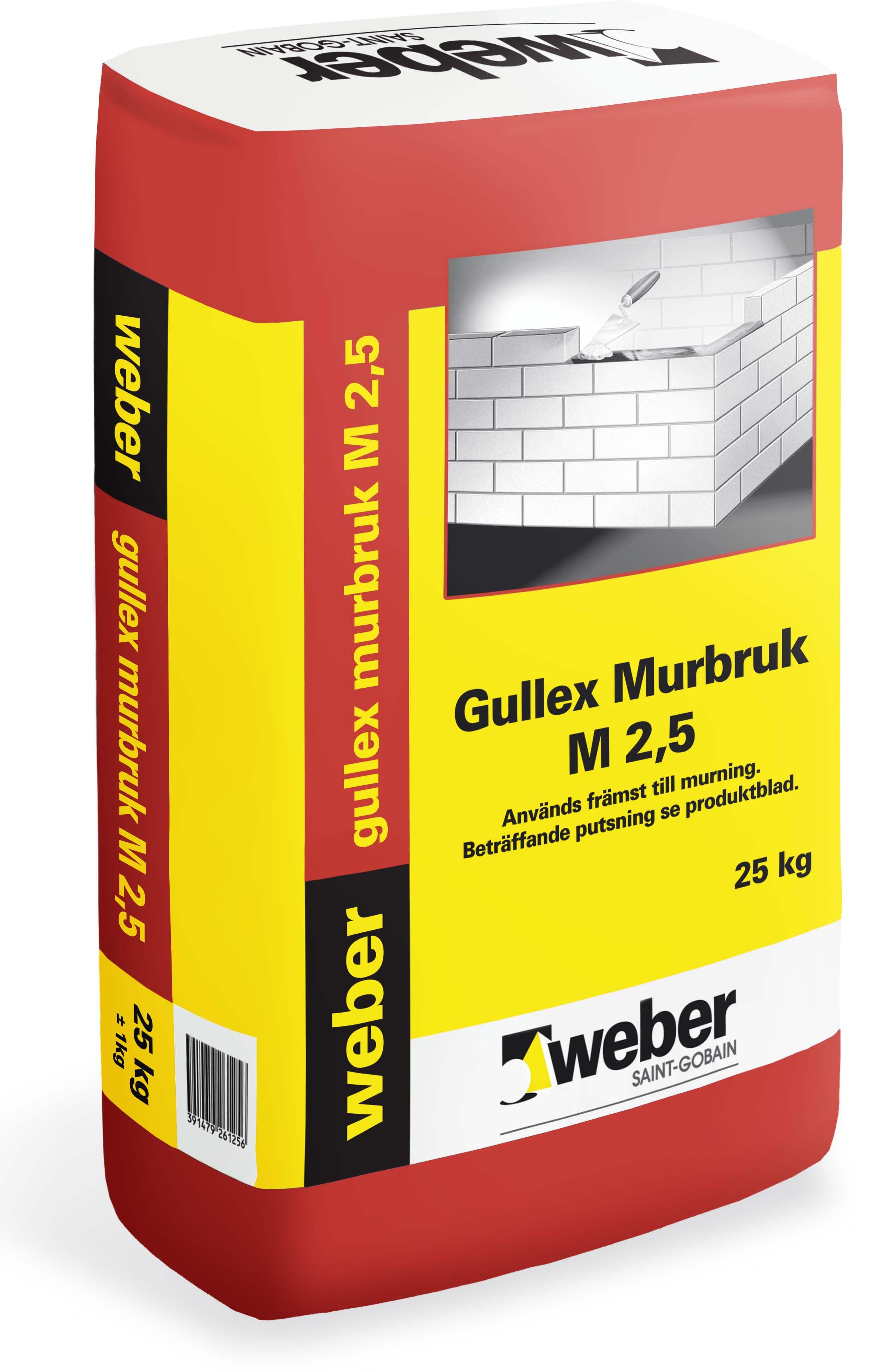 Murbruk Weber Saint-Gobain Gullex M 2,5 25Kg