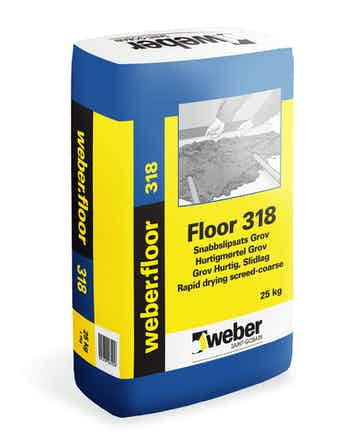 Snabbslipsats Weber Saint-Gobain Floor 318 Grov 25Kg