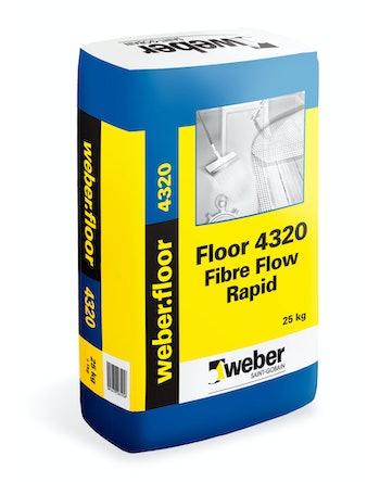 Floor Weber Saint-Gobain 4320 Fibre Flow Rapid DR 20Kg