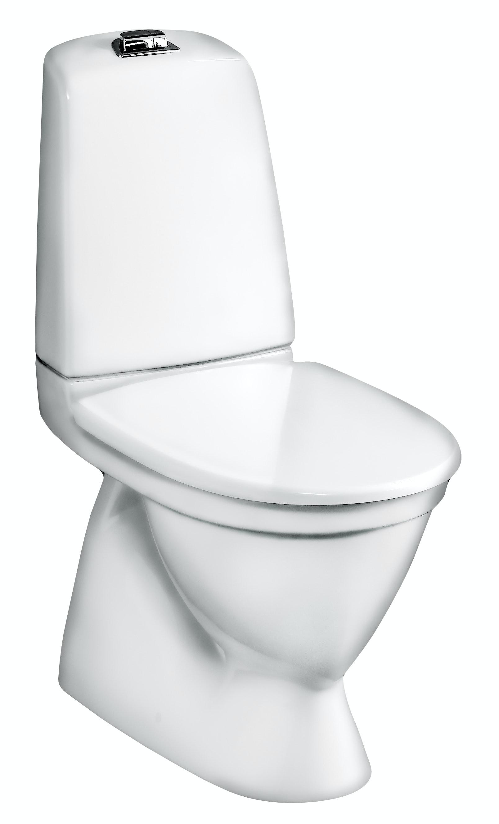 Toalettstol Gustavsberg Nautic 5546 Förhöjd Dubbelspolning