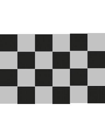 Bergo Turfmatta Chess Stone Grå Svart