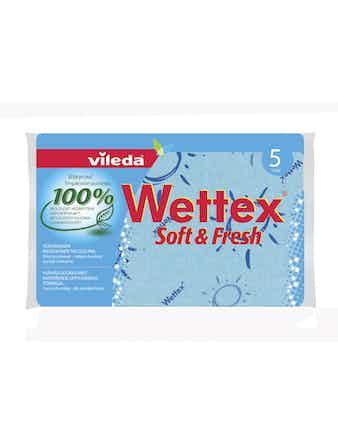 Städduk Vileda Wettex Soft Och Fresh 5-Pack 127527