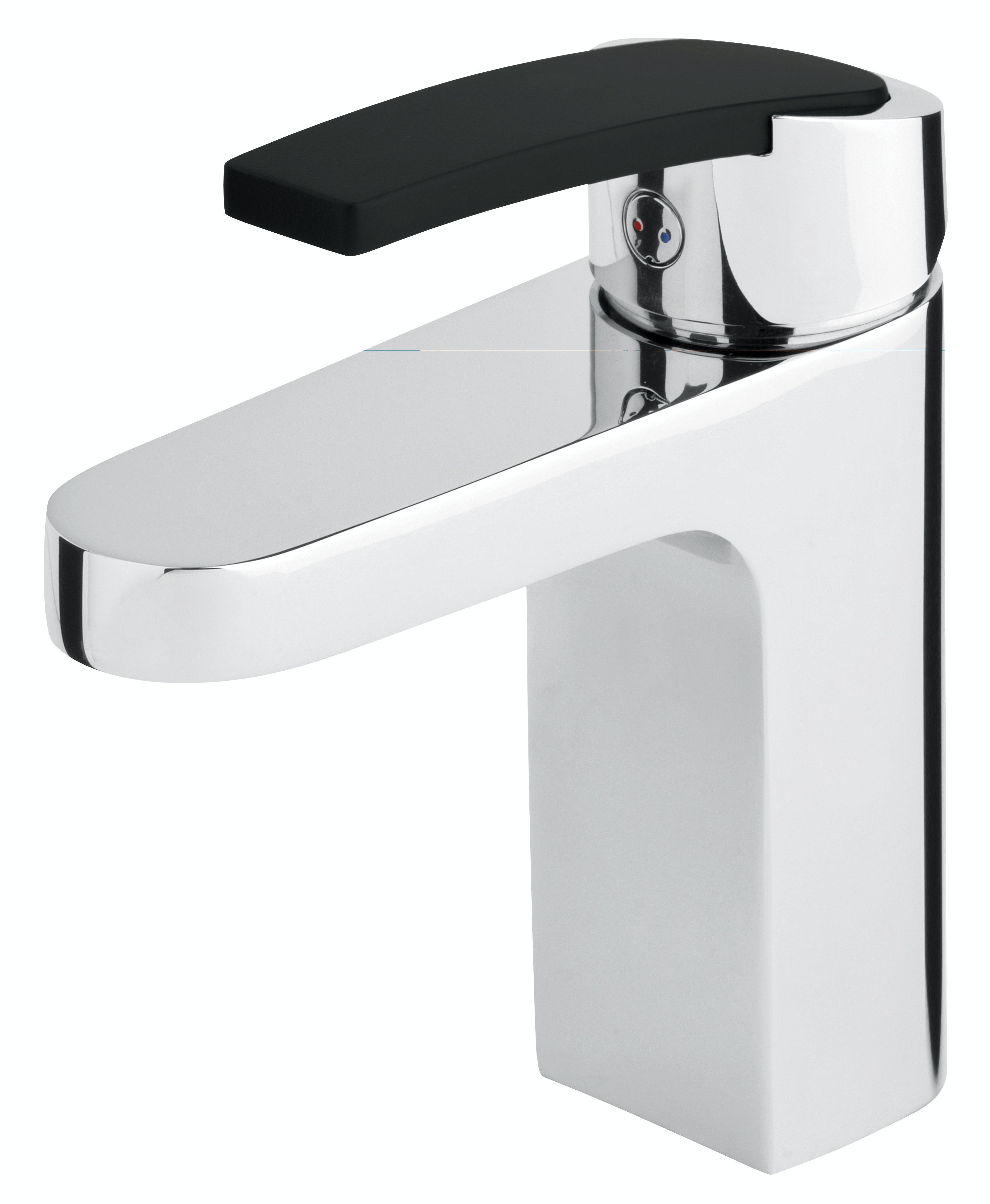 Tvättställsblandare Mora Nyxx Krom/Svart