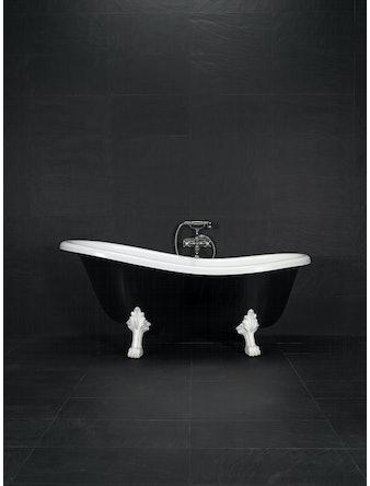 Badkar Westerbergs Victoria 157 svartvit med vita tassar