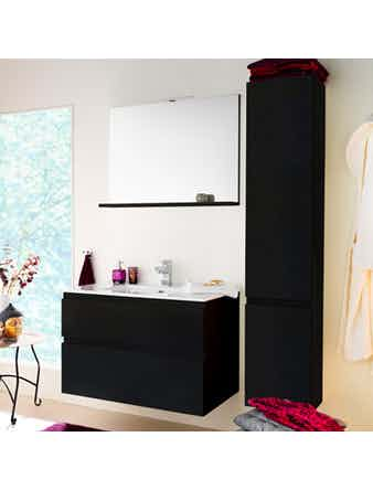 Badrumsmöbel Westerbergs Motion Sq 900 med spegelskåp svart