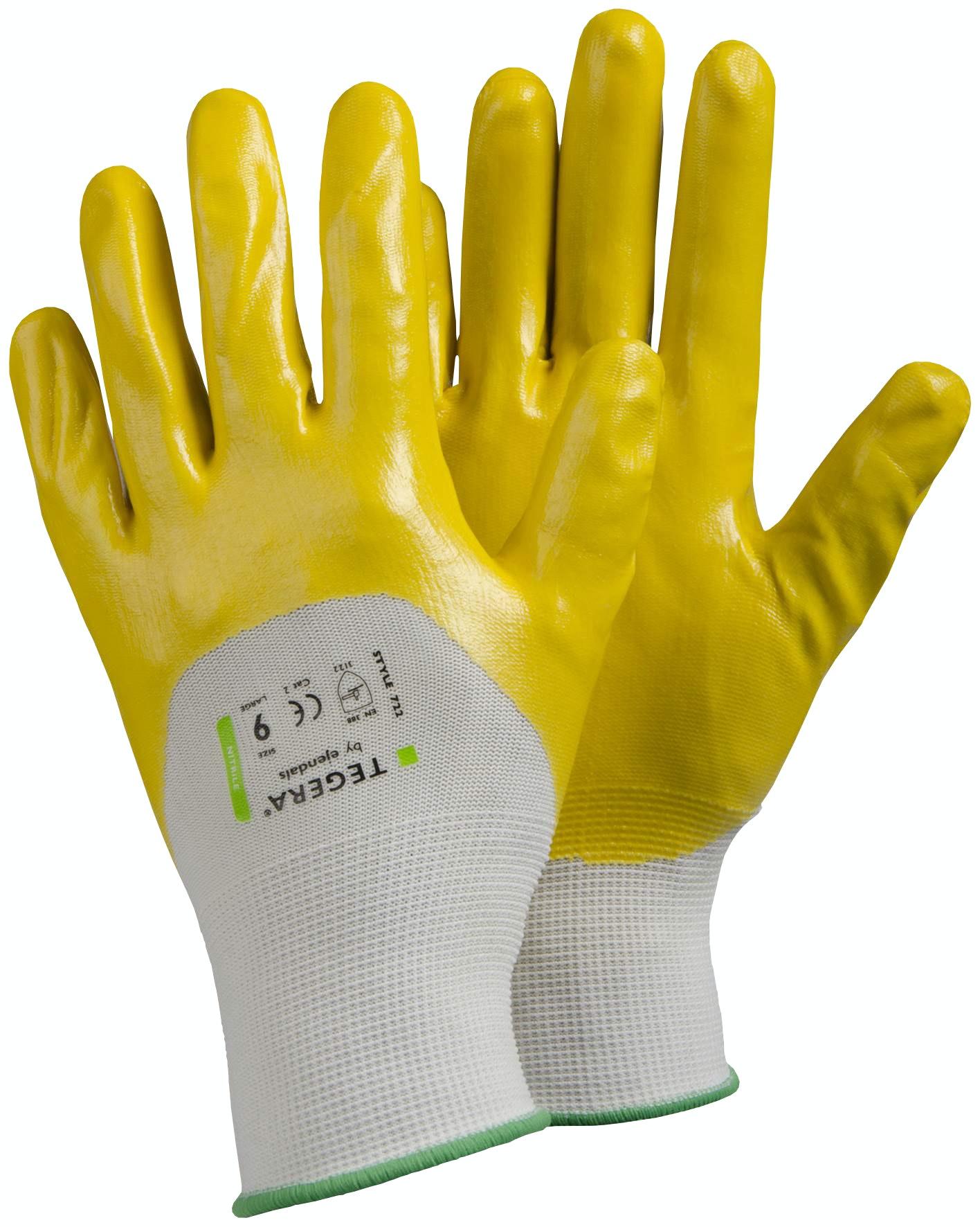 Handskar Tegera Nitrildoppad Stl 10