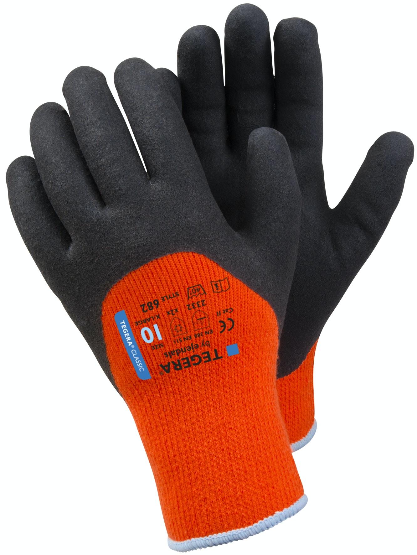 Vinterhandskar Tegera 682 Orange Stl 10