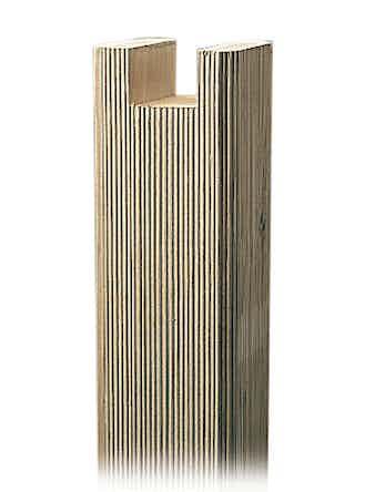 Stolpe Jabo Jackad Räfflad 95X95X2380mm