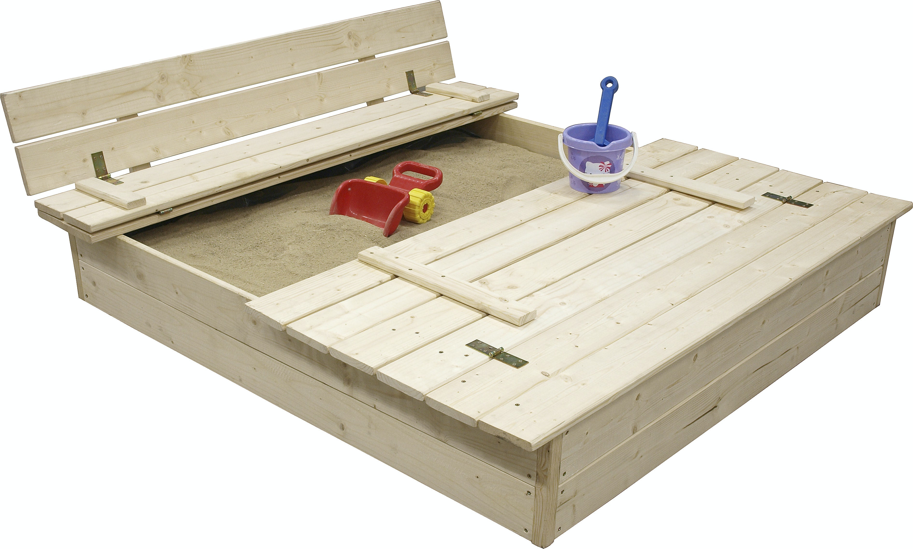 Sandlåda Jabo Med Bänk & Lock 120x120cm 3304