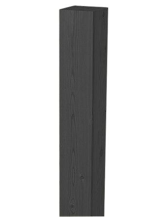 Stolpe Jabo Svart 70X70mm 1800mm 3689