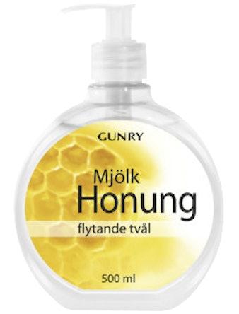 Flytande Tvål Gunry Mjölk & Honung 500ml
