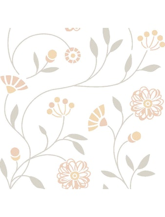 Tapet Blomsteräng Beige 25003