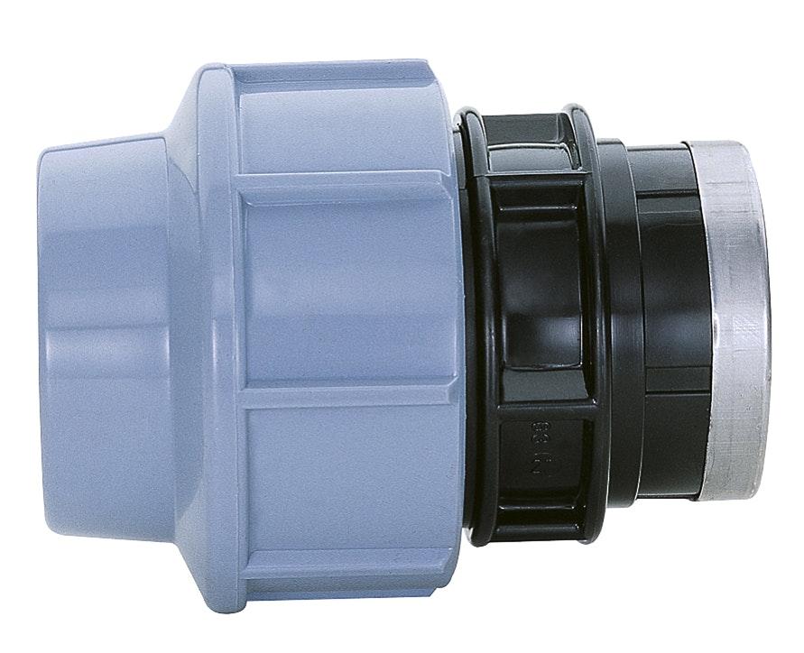 Pemkoppling GG Carat Rak 16mmXR15 Invändig Plast 61030