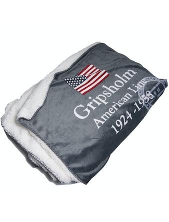 Pläd Gripsholm Americanline 130X170 Grå 909347