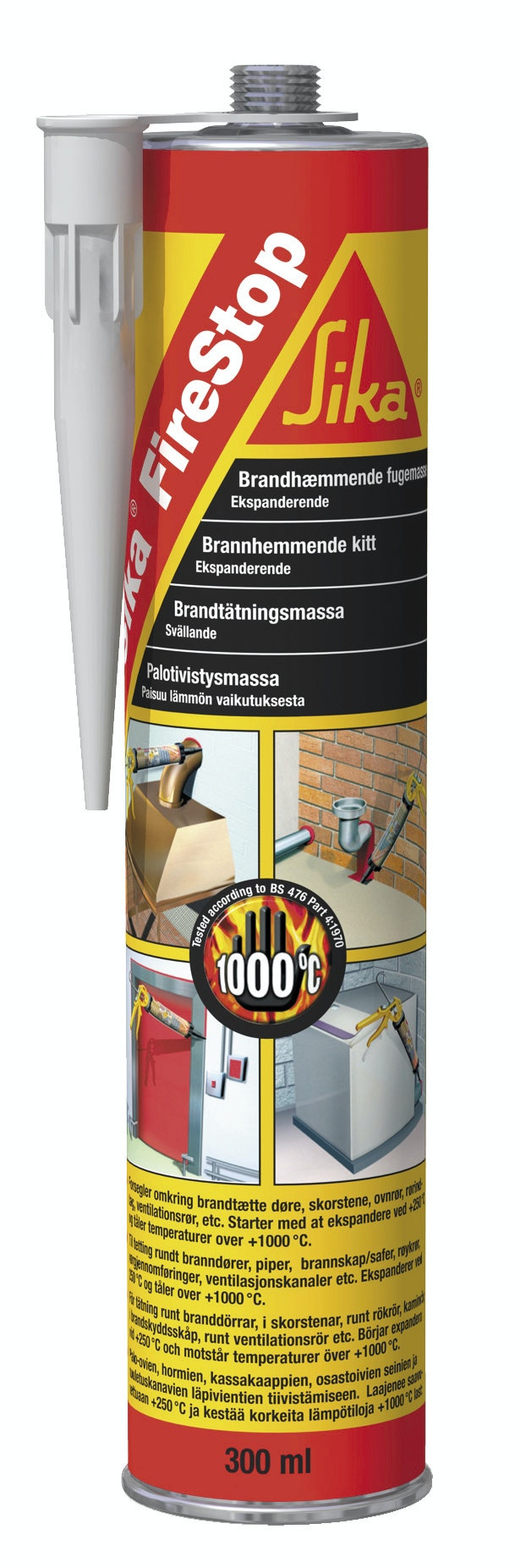 Tätningsmassa Sika FireStop® Svart 300ml