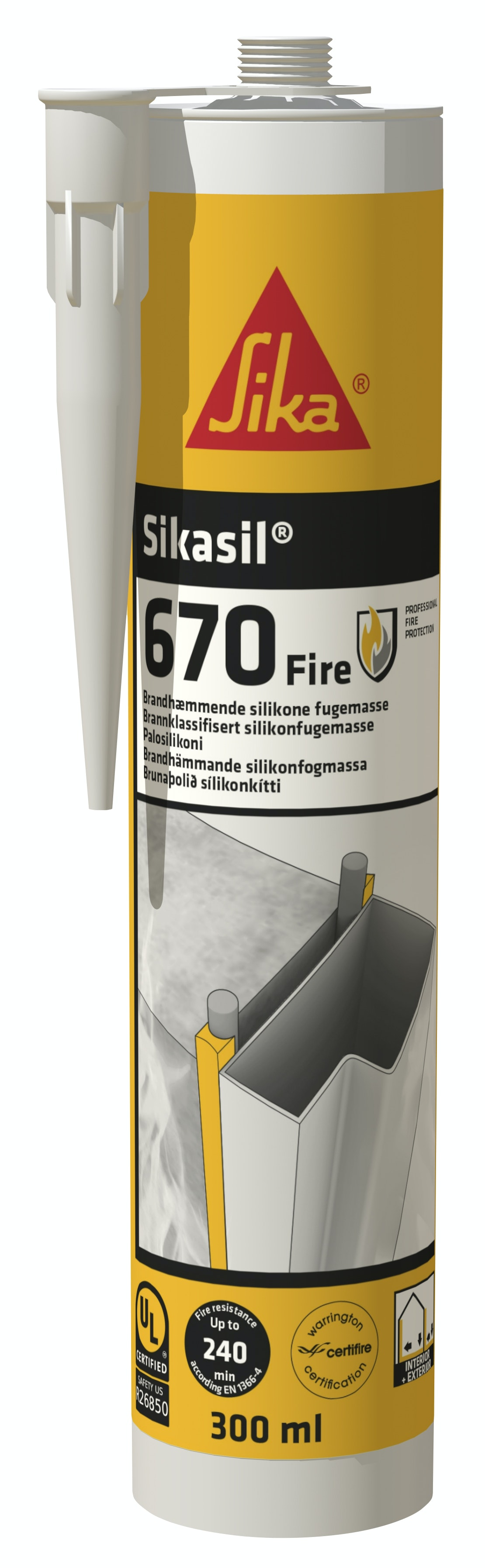 Brandfog Sika SikaSil®-670 Fire Vit 300ml