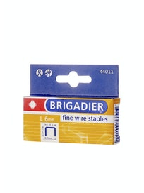 Скобы Brigadier 44011, 6 мм, 1000 шт.