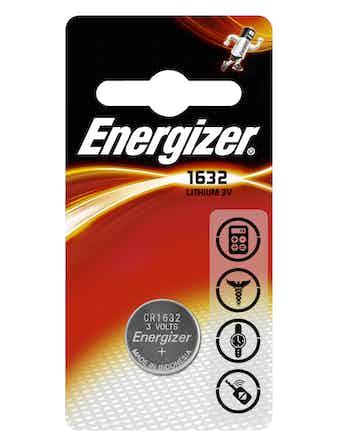 Batteri Energizer Lithium CR1632 Pip1