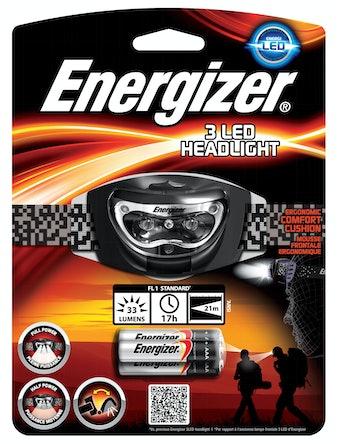 Pannlampa EnergizerMed 3 Ledlampor + 3st AAA