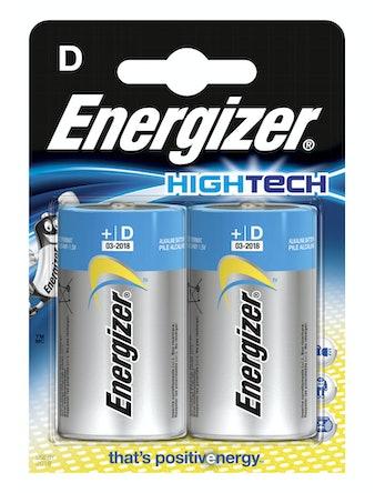 Batteri Energizer Hightech Alkaline LR20 D 2-Pack
