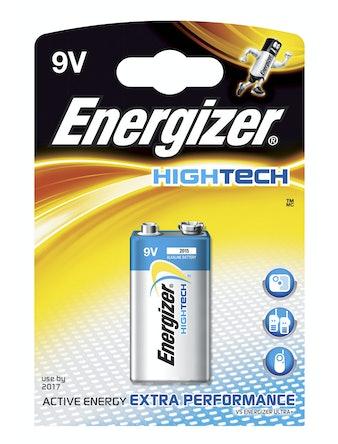 Batteri Energizer Hightech Alkaline 6LR61 9 Volt