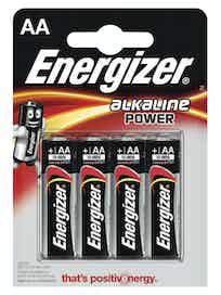 Батарейки алкалиновые Energizer Power Alkaline AA, 4 шт.