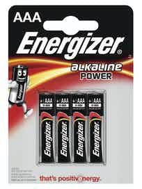 Батарейки алкалиновые Energizer Power Alkaline AAА, 4 шт.