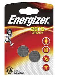 Батарейки литиевые Energizer CR2016, 2 шт.