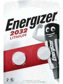 Батарейки литиевые Energizer CR2032, 2 шт.