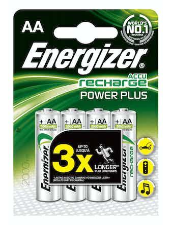 Batteri Rech Powerplus Aa 2000Mah Fsb4
