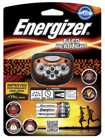 Pannlampa Energizer 6 Ledlapor + 3st batterier AAA