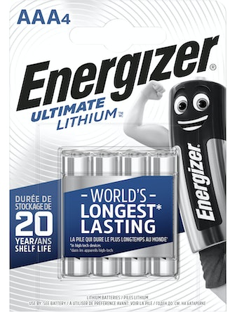 Batteri Energizer Ultimate Lithium AAA L92 Fsb4