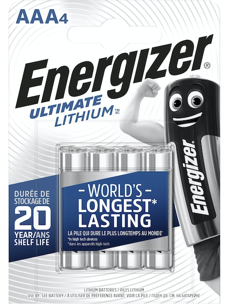 LITIUMPARISTO ENERGIZER ULTIMATE LITHIUM AAA 4KPL