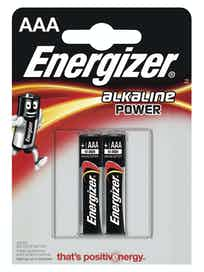 Батарейки алкалиновые Energizer Power Alkaline AAА, 2 шт.