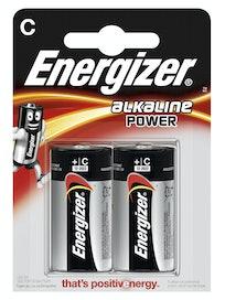 Батарейки алкалиновые Energizer Power Alcaline E93/C, 2 шт.