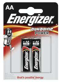 Батарейки алкалиновые Energizer Power Alkaline AA, 2 шт.