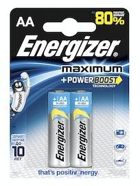 Батарейки алкалиновые Energizer Maximum Power Boost AA, 2 шт.