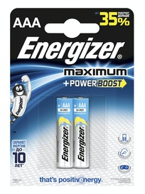 Батарейки алкалиновые Energizer Maximum Power Boost AAA, 2 шт.