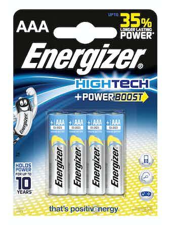 Batteri Energizer Hightech Alkaline LR03 AAA 4 st