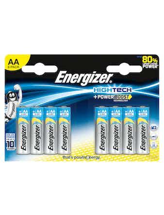 Batteri Energizer Hightech Alkaline AA LR6 FSB8