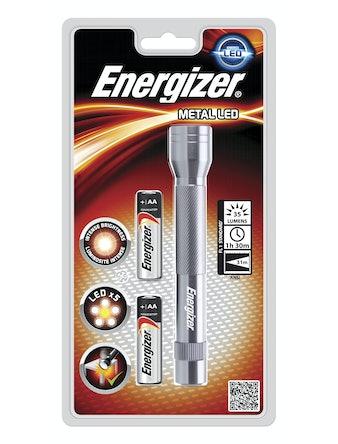 Ficklampa Energizer Led Light Metal + 2st batterier