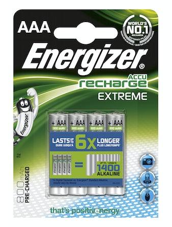 Batteri Energizer Extreme Rechargeable AAA 800Mah Fsb4