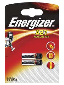 Батарейки алкалиновые Energizer A27, специальные, 2 шт.