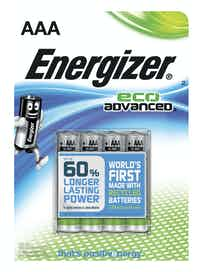 ALKALIPARISTO ENERGIZER ECO ADVANCED AAA 4KPL