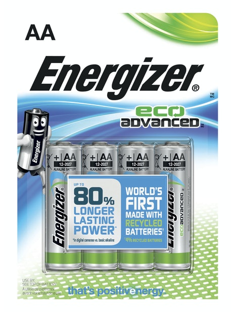 ALKALIPARISTO ENERGIZER ECO ADVANCED AA 4KPL